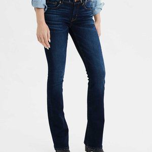 American Eagle Dark Kick Boot Denim Jeans